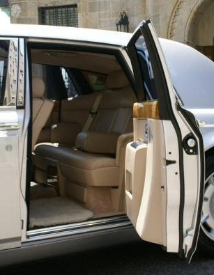 Suicide doors as implemented on a Rolls Royce limo