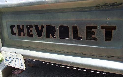 Plasma Cut Chevrolet Tailgate