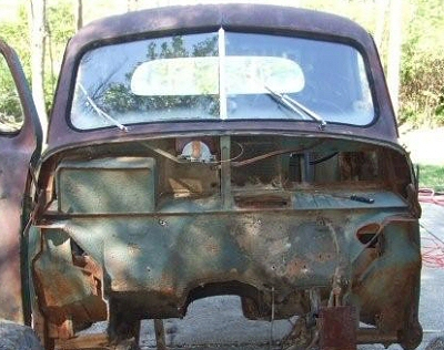 Studebaker Firewall From Spare Tailgate