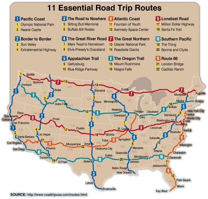 Live build drive blog for Fun road trip destinations east coast