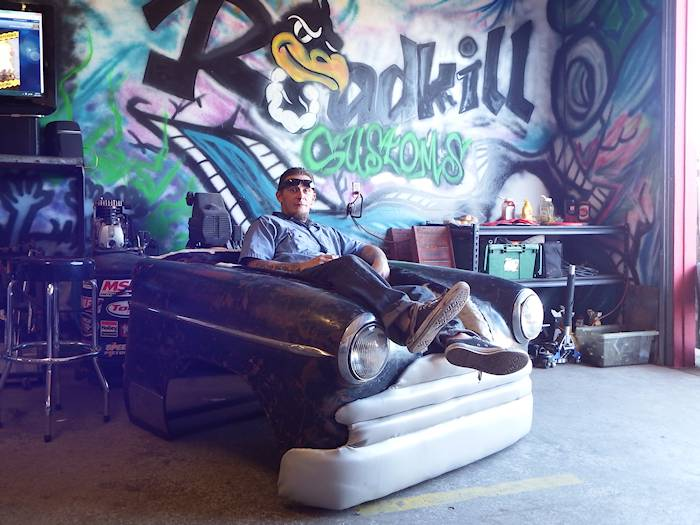 Man Cave Car Art : Vehicular furnishings and automotive decor roadkill customs