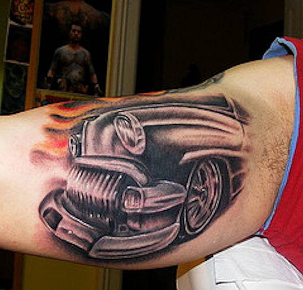 Photo gallery hot rod car and truck tattoos for Hot rod tattoos