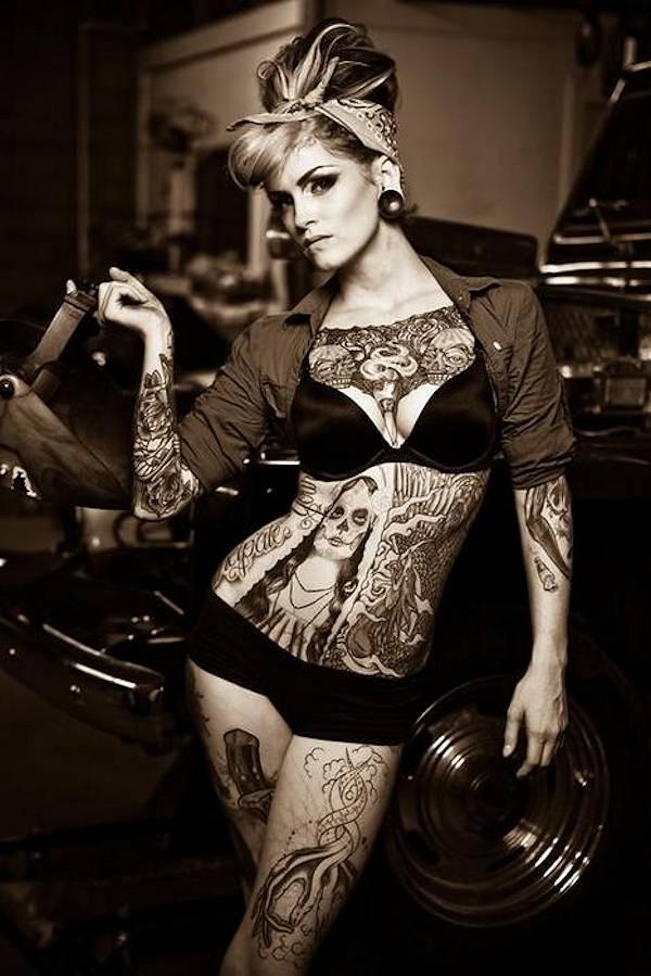 Photo gallery pin up girls - Tattooed pin up models ...