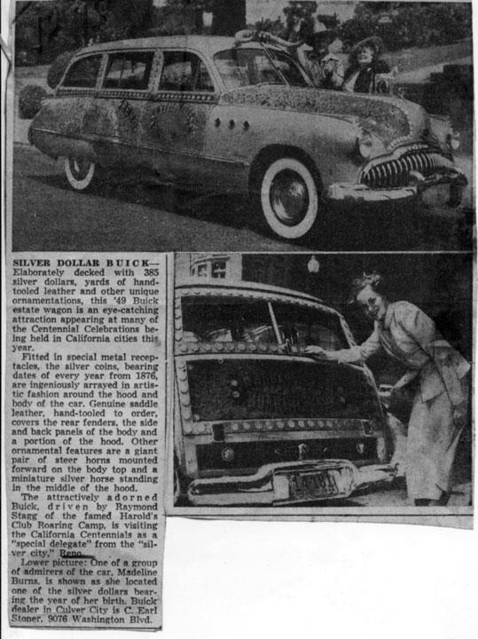 "The Reno Harold's Club 1949 ""Silver Dollar"" Buick Woody Wagon"