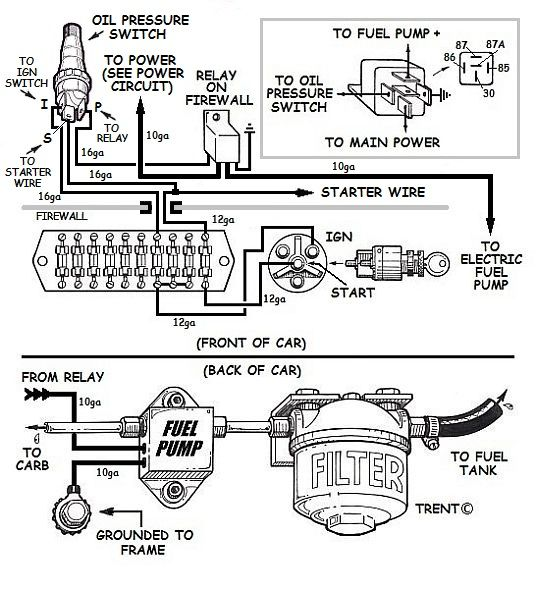 wiring an electric fuel pump diagram