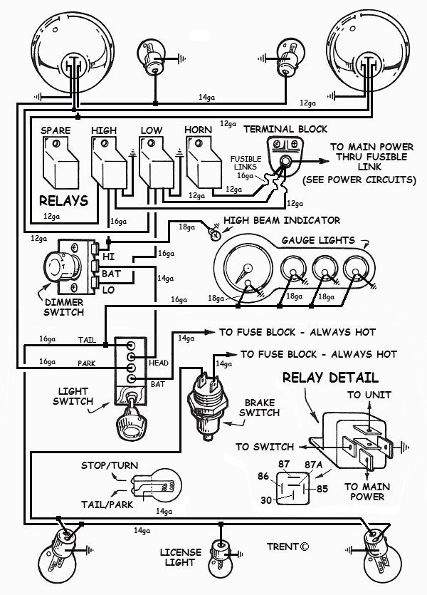 basic hot rod wiring diagram wiring hot rod lights diagram basic ford hot rod wiring diagram tech